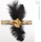 1920s Sequin Headband Gold