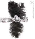1920s Sequin Headband Silver