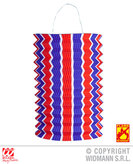 Red White Blue Striped Lantern 28cm