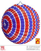 Red White Blue Striped Paper Ball 25cm