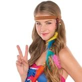 60s Groovy Hippie Headband Feathered