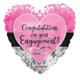 Engagement Pink Heart Foil Balloon