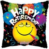 Retirement Smiley Foil Balloon