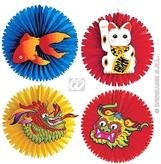 Oriental Paper Fans 55cm