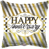 Lines And Dots Anniversary Foil Balloon