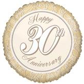 Happy 30th Anniversary Foil Balloon