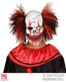 Bloody Mouth Clown Mask W/Hair