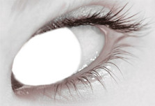 Contact Lens Daily Blind White