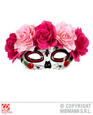 Dia De Los Muertos Eyemask Red And Pink Roses