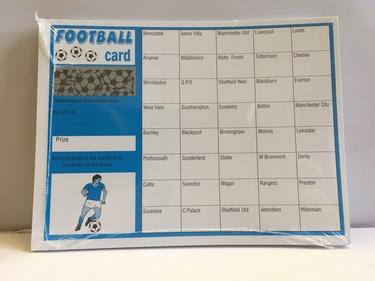 Football Fundraiser Scratch Cards