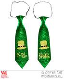St.Patricks Day Glitter Tie 2 Styles Asstd