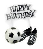 Football & Boots & Birthday Cake Topper