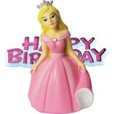 Pink Princess & Birthday Cake Topper