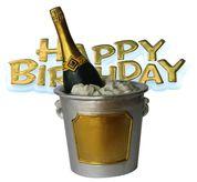 Ice Bucket & Birthday Cake Topper