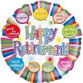 Happy Retirement Foil Balloon Speech Bubble