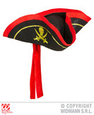 Black Pirate Tricorn With Headband