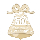 50th Anniversary Bell Supershape Foil Balloon