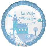Communion Church Blue Foil Balloon