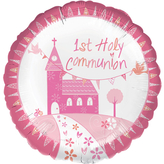 Communion Church Pink Foil Balloon