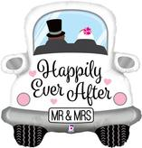 Happily Ever After Car Supershape Foil Balloon