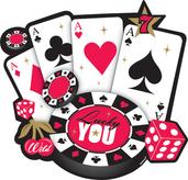 Casino Card Cutout Decoration