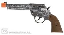 Cowboy Gun Silver Plastic
