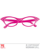 50s Glasses Pink With Rhinestones