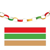 Paper Chains Red Green Gold