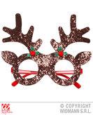 Glitter Reindeer Glasses