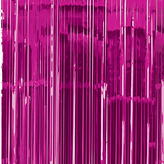 Door Curtain Metallic Bright Pink