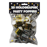 Holographic Party Poppers Bag Of 20