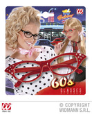 60s Glasses Red