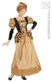 Black & Gold Medieval Queen Costume (Xl)
