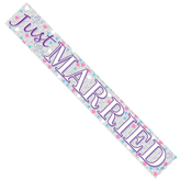 Just Married Party Banner