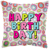 Biirthday Pillow Circles Clearview Balloon