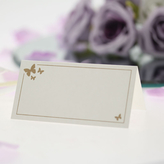 Place Cards Ivory With Gold Butterfly