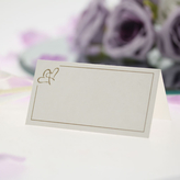 Place Cards Ivory With Gold Hearts