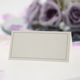 Place Cards Ivory With Gold Border