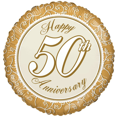Happy 50th Anniversary Foil Balloon