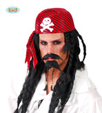 Red Pirate Hat With Crossbones