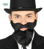 Black Beard And Moustache