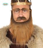 Auburn Brown Beard W/Tash And Eyebrows
