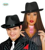 Black Striped Gangster Hat
