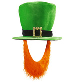 Irish Topper Hat With Red Beard