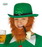 St Patricks Day Green Shamrock Bowler Hat