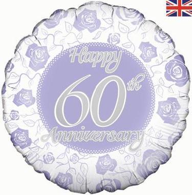 Happy 60th Anniversary Foil Balloon