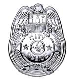 Silver Police Badge