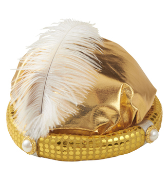 Arabian Sultan Hat With Feather