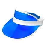 80s Blue Sun Visor Hat