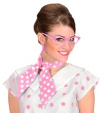 50s Dotted Pink & White Neck Sash